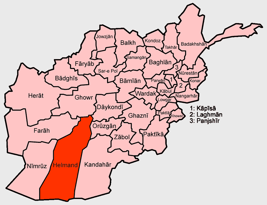 Map of Helmand Province