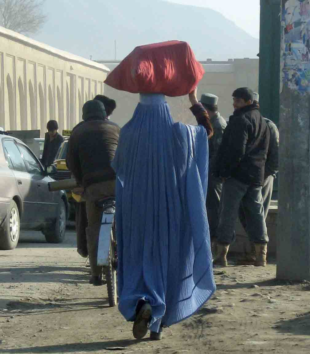Women in blue burqa