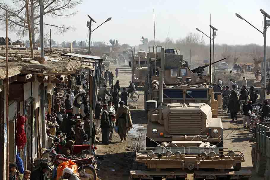 Bazaar in Helmand Province