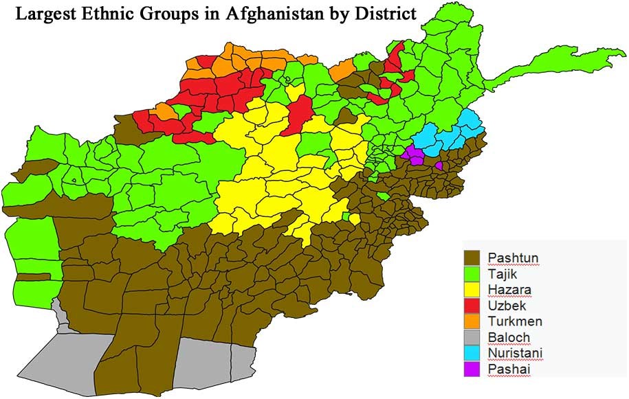 Map of ethnic groups