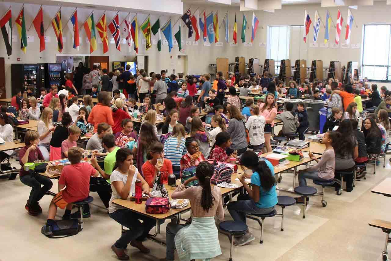 Middle school lunchroom