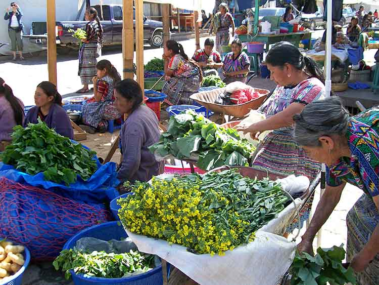 Food market in Guatemala