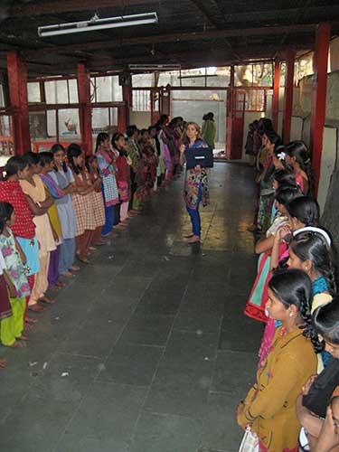 Indian slum girls