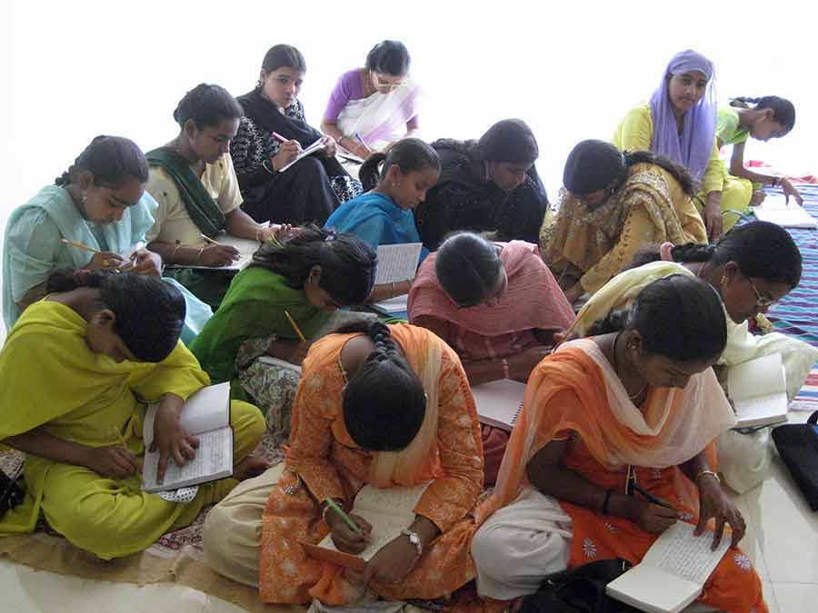 Indian girls writing