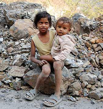 Poor Indian kids
