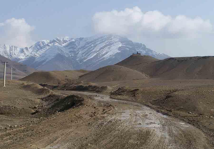 Rural road in Afghanistan