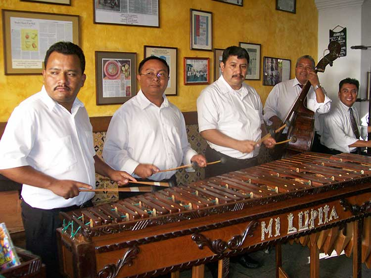 Men playing Marimba
