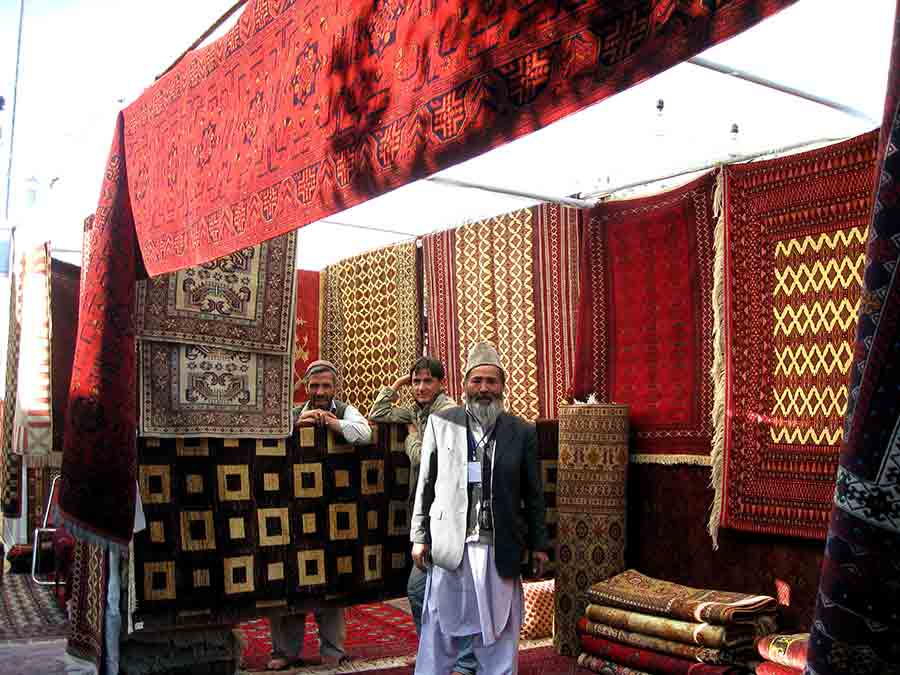 Rug fair in Kabul, Afghanistan