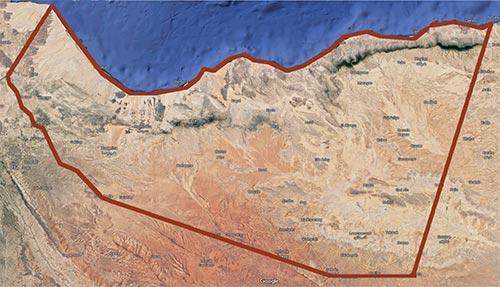 satellite image of Somaliland