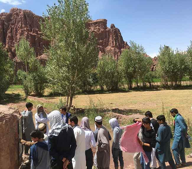 Afghan team at historic Silk Road site
