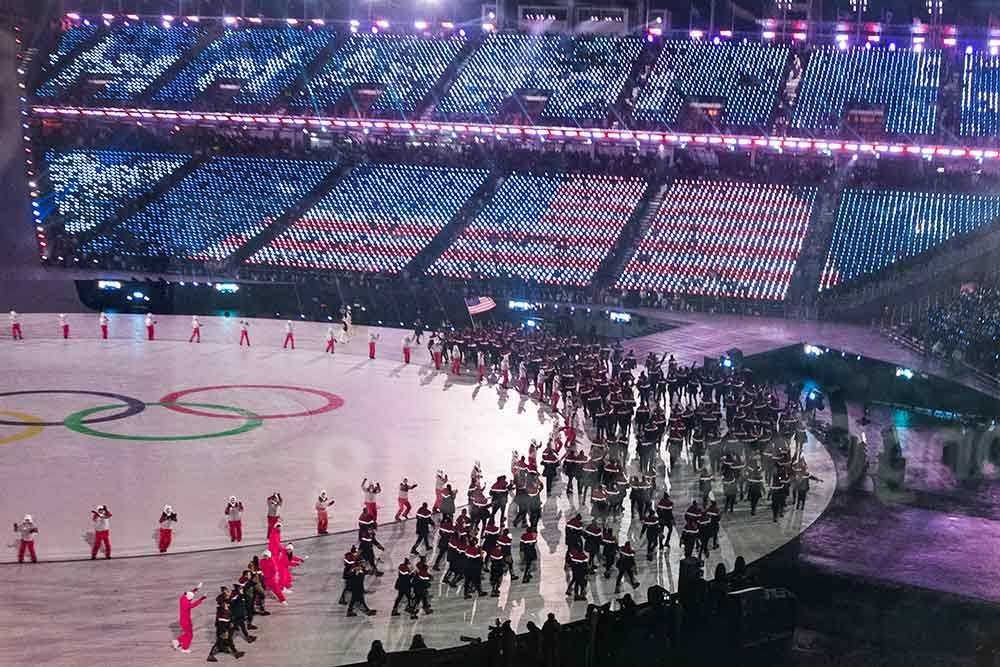 Opening ceremony of the winter Olympics