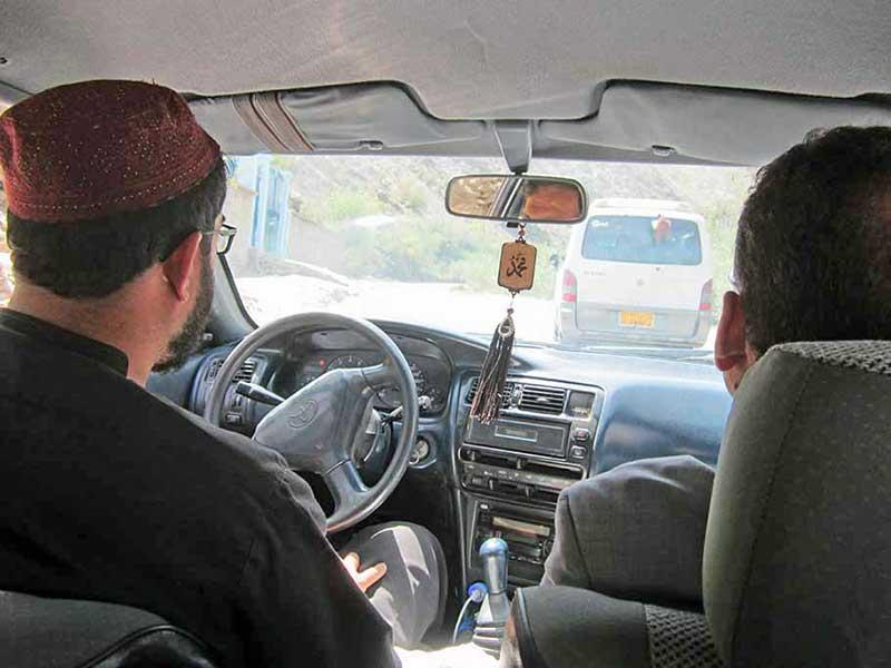 Driving car in Afghanistan