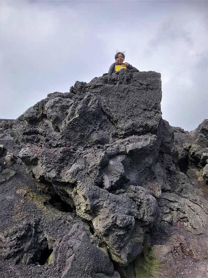 Guatemalan teen at Volcano Pacaya