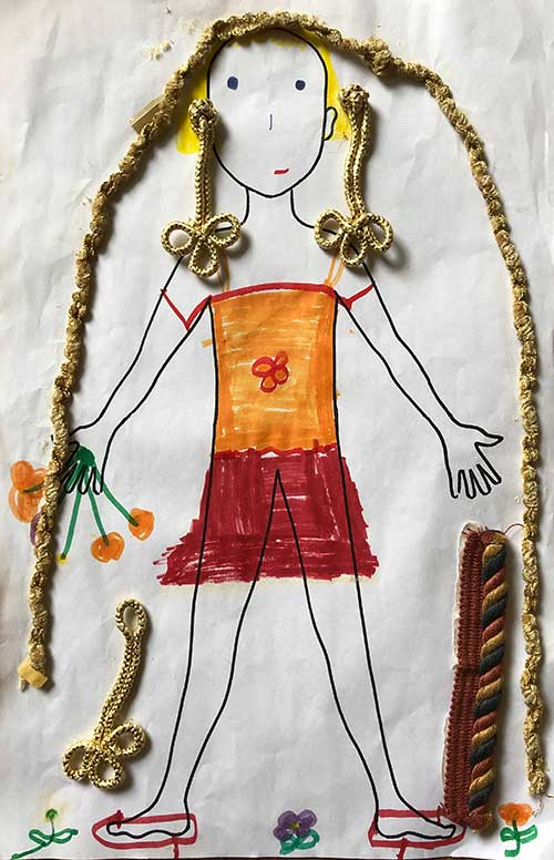 paper doll with traditional clothing