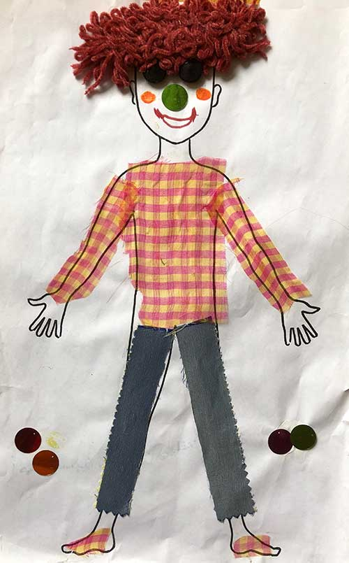 paper doll depicting death