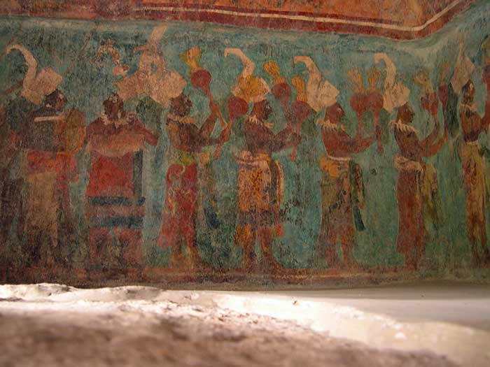 Old Mayan painting