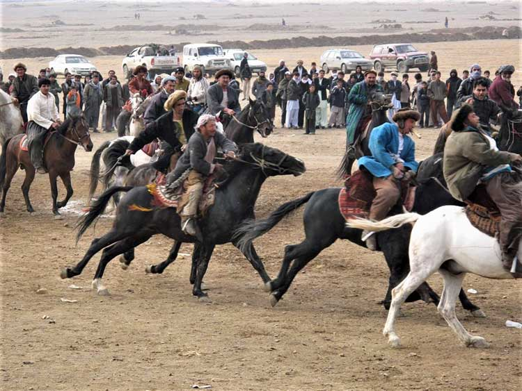 Afghans playing Buzkashi