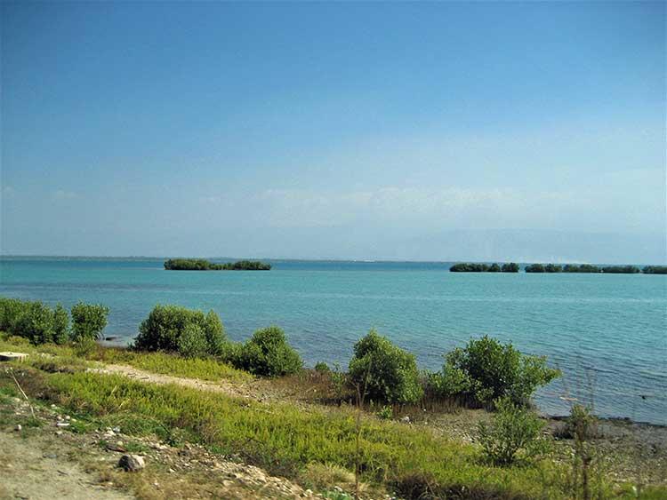 Caribbean sea on Haiti's coast