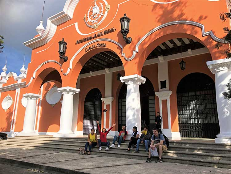 Outside museum of modern art in guatemala city