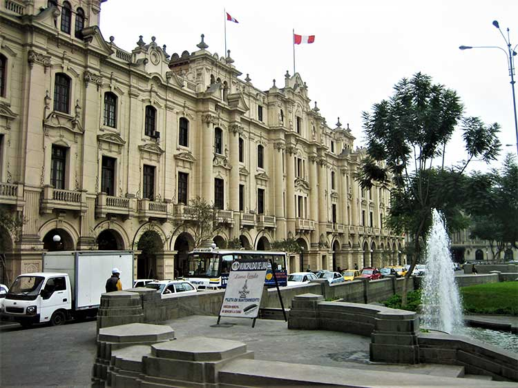 Old building in Lima, Peru
