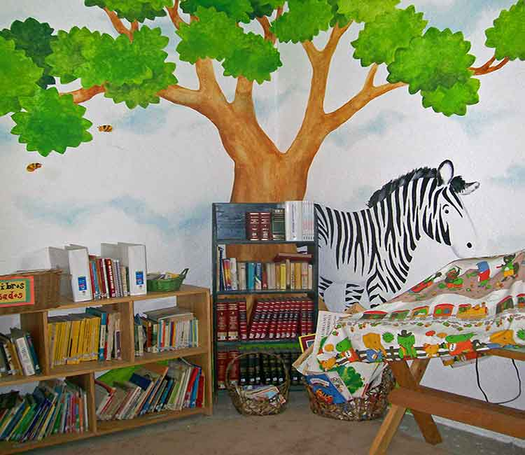 Reading corner at school