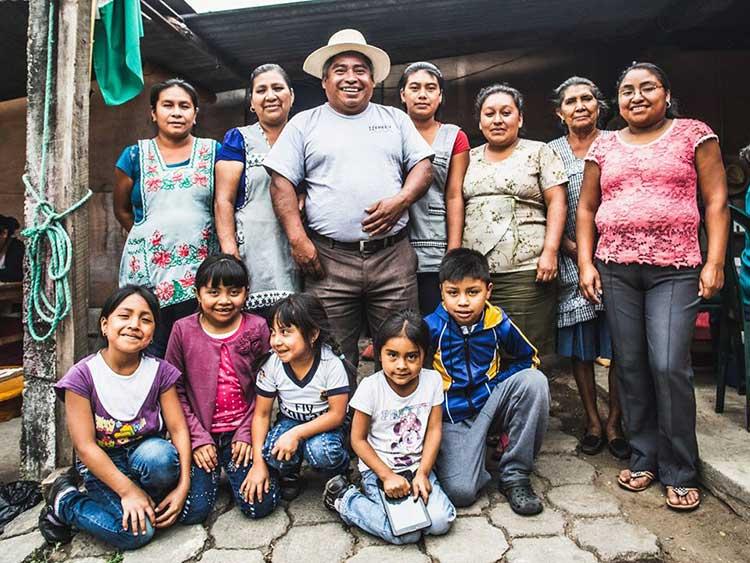 Coffee farming family in Guatemala