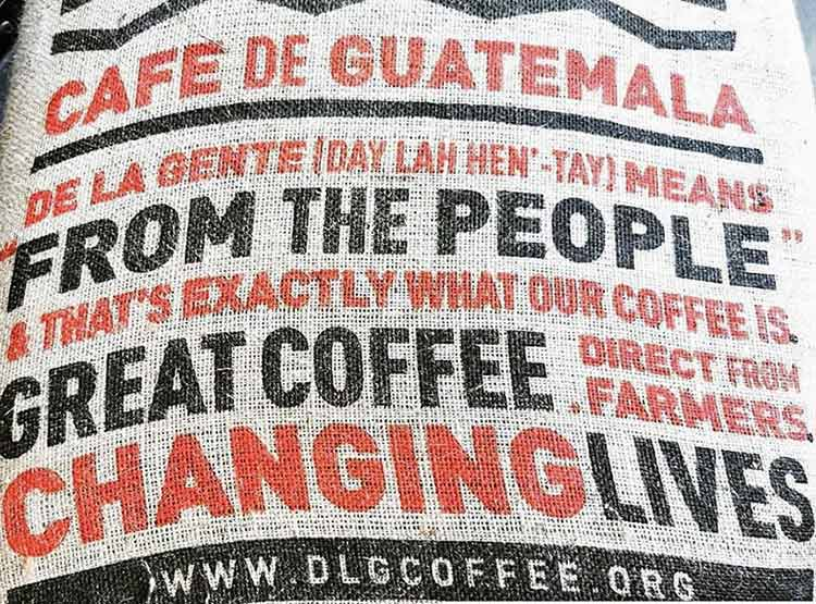 De la gente coffee sack