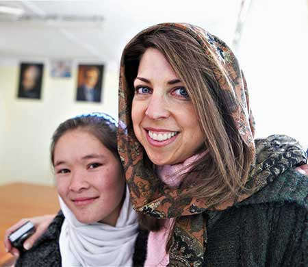 Dina with Afghan girl