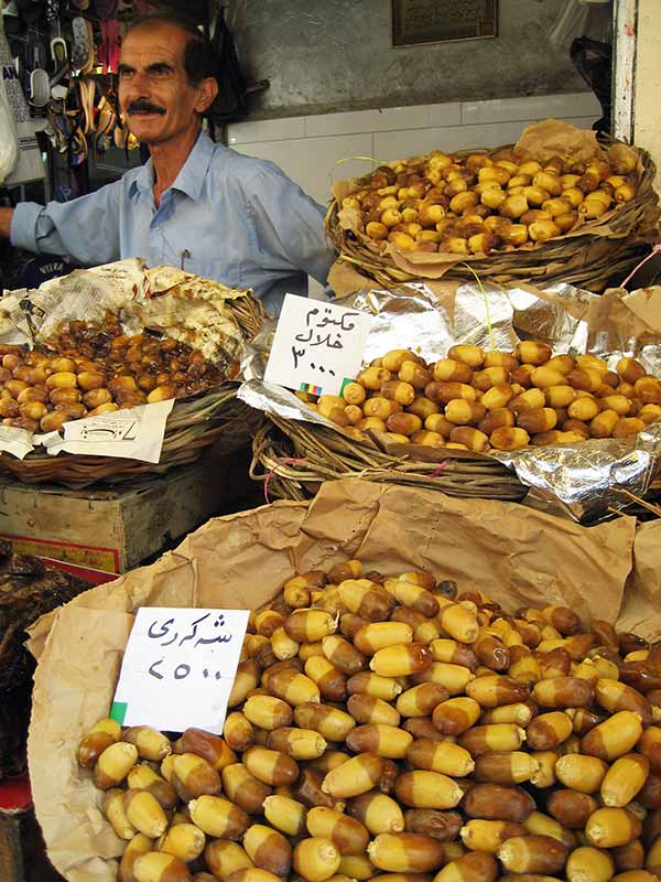 Dried fruit for sale in Iraqi market