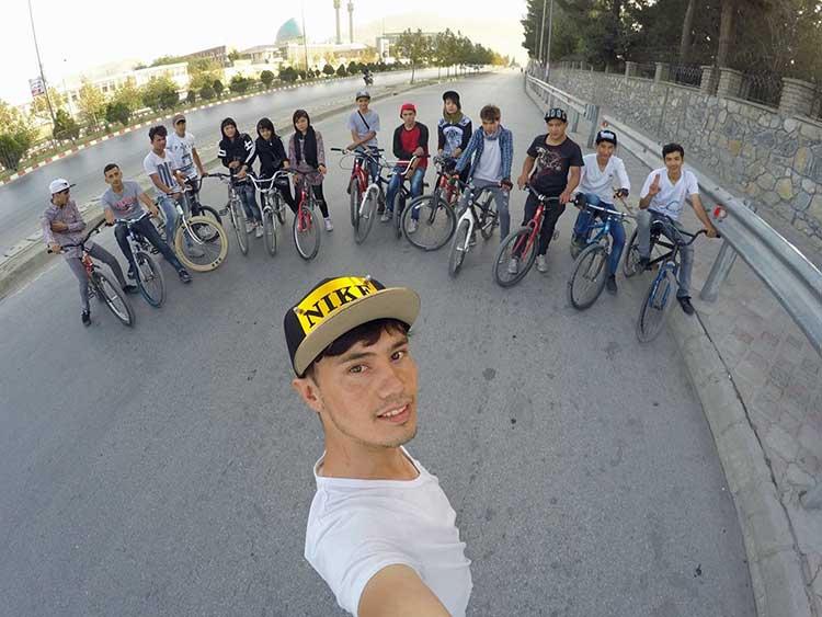 Afghan bikers