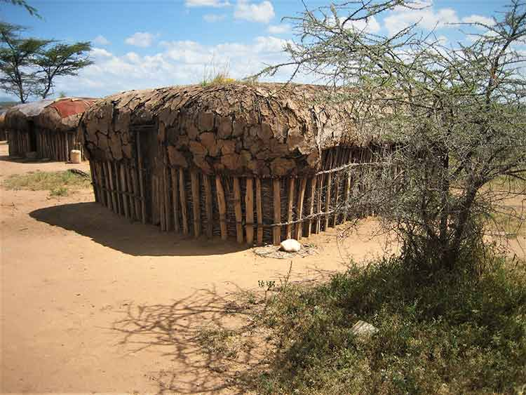Hut made out of animal droppings