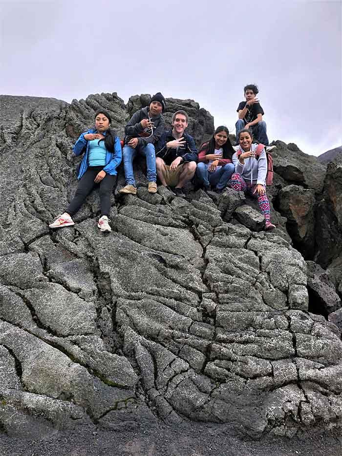 Empresarios at volcano