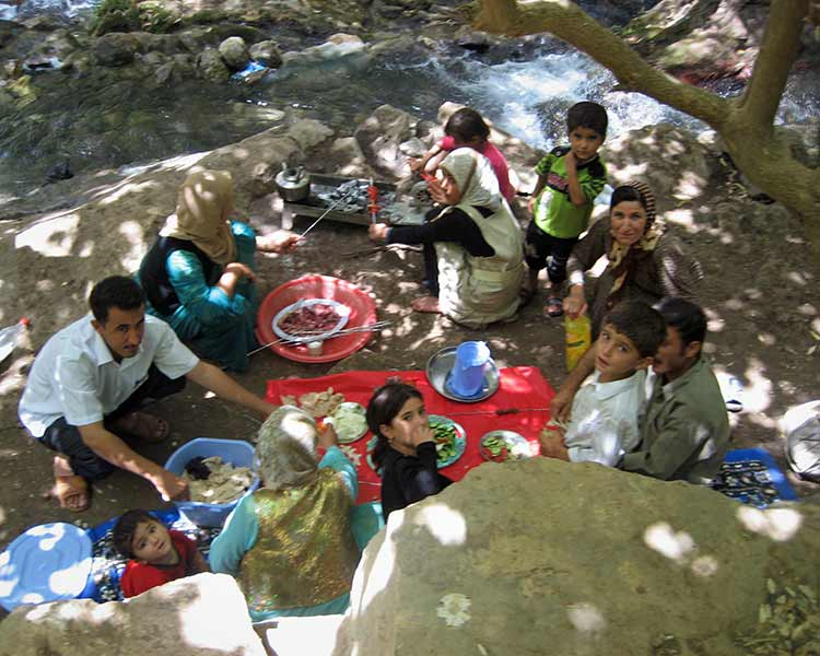 Iraqi family picnic