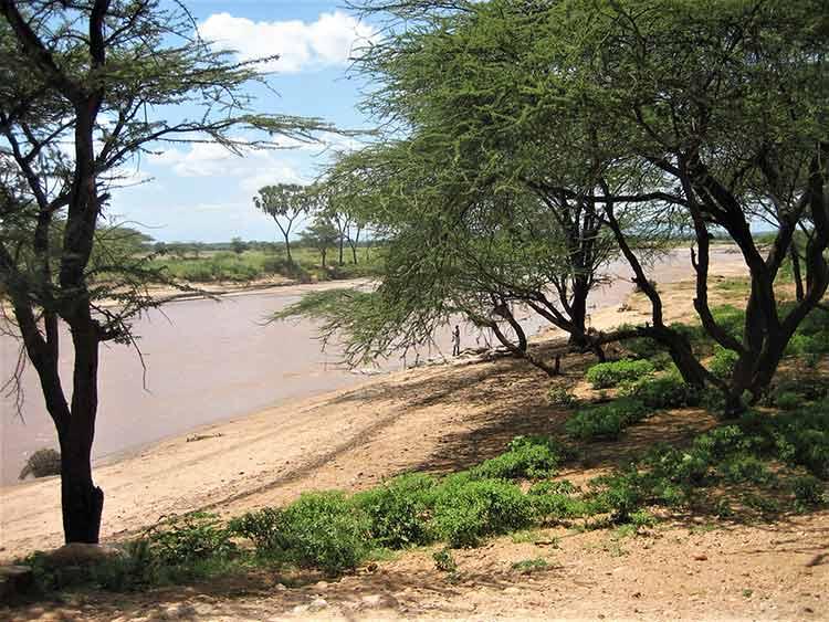 Kenyan man fishing
