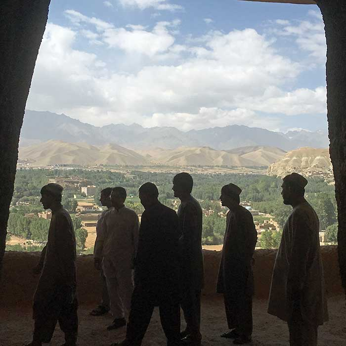 Afghan guys in mountains