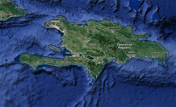 Satellite map of Haiti