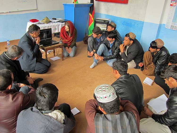 Afghans in circle