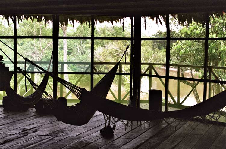 Hammock in lodge