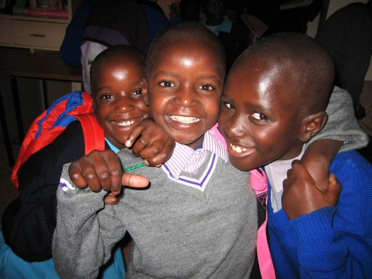 Kenyan boys smiling