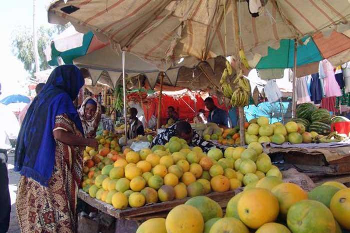 Fruit market in Hargeisa