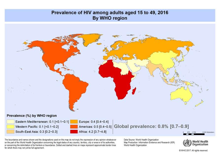 HIV rates worldwide