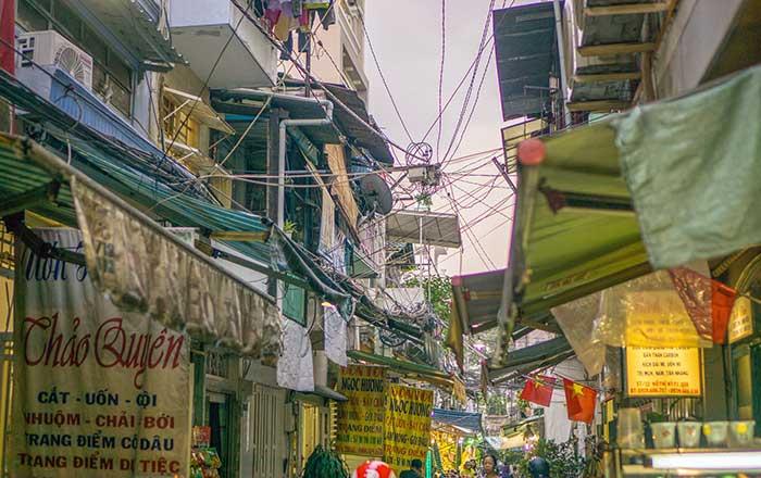 Chaotic street in Vietnam