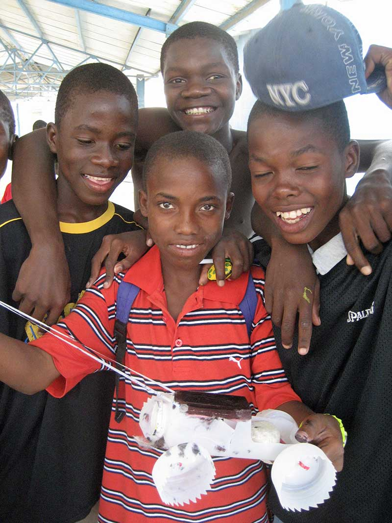 Teens in Haiti