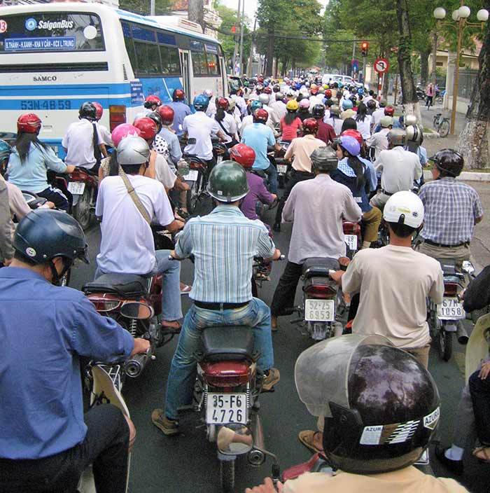 Navigating Vietnam traffic