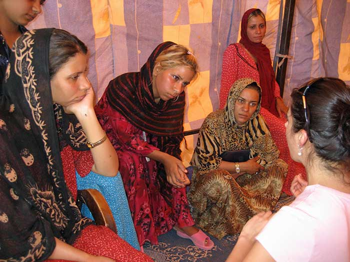 Iraqi women sharing stories