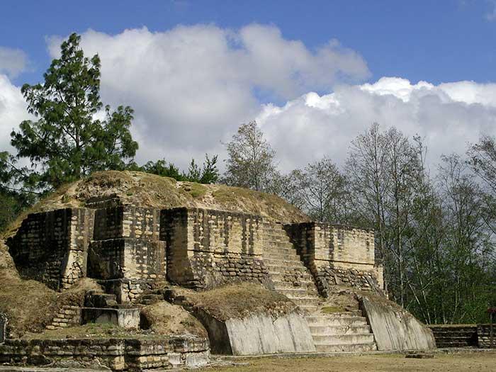 Temple at Iximche