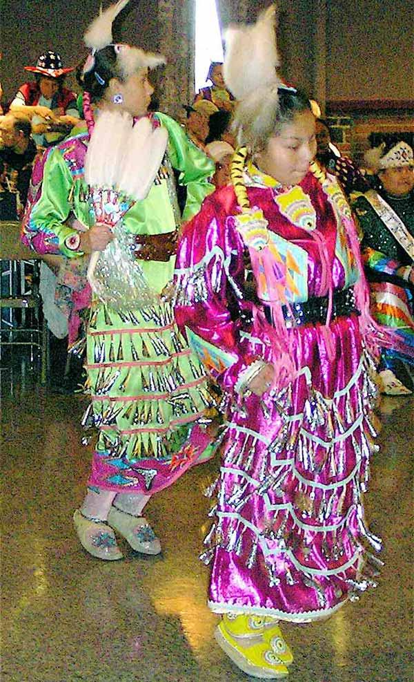 Native woman jingle dancing