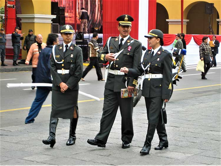 Police officers in Lima, Peru