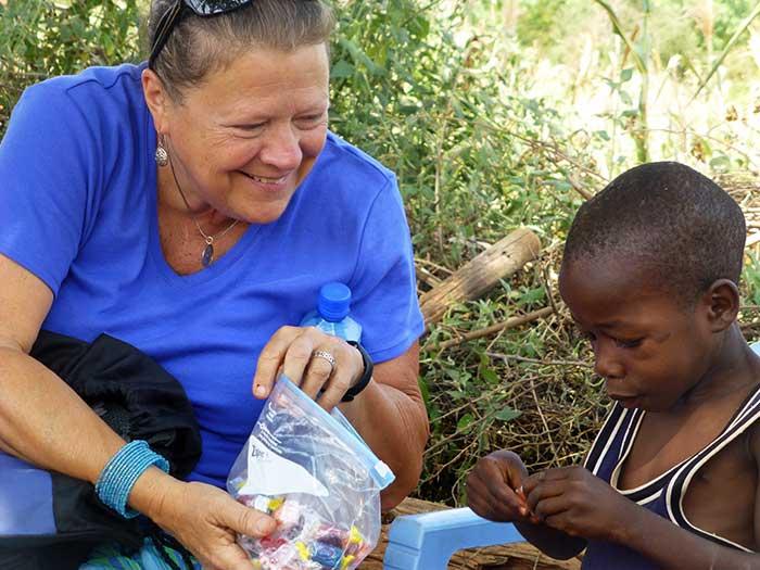 Lloydie Zaiser with Kenyan child