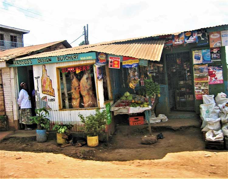 Butcher shop in Kenya
